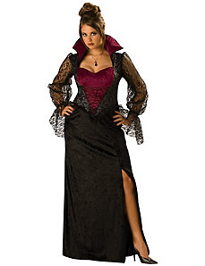 Midnight Vampiress Adult (Plus) Costume by In Character Costumes