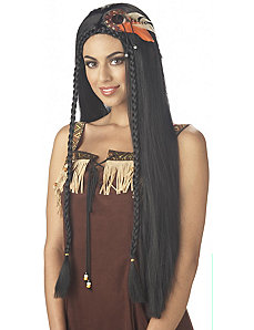 Sexy Indian Princess Adult Wig by California Costume Collection