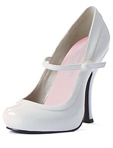 Babydoll (White) Adult Shoes by ELLIE SHOES