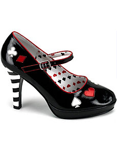 Sexy Queen of Hearts Adult Shoes by PLEASER