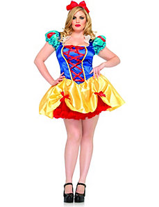 Fairy Tale Snow White Adult Plus Costume by Leg Avenue