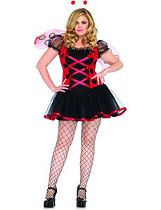 Lovely Ladybug Adult Plus Costume by Leg Avenue