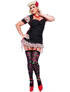 French Kiss Pinup Girl Adult Plus Costume by Paper Magic Group