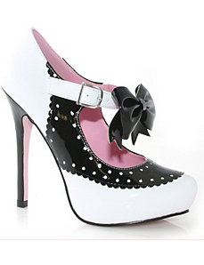 Sweetie (Black/White) Adult Shoes - 6 by ELLIE SHOES