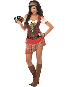 Mystic Gypsy Plus Adult Costume by California Costume Collection