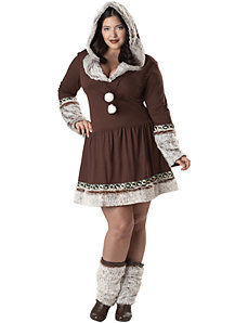 Eskimo Kiss Plus Adult Costume by California Costume Collection