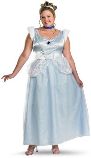 Cinderella Deluxe Plus Adult Costume
