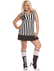 Racy Referee Adult Plus Costume by Elegant Moments