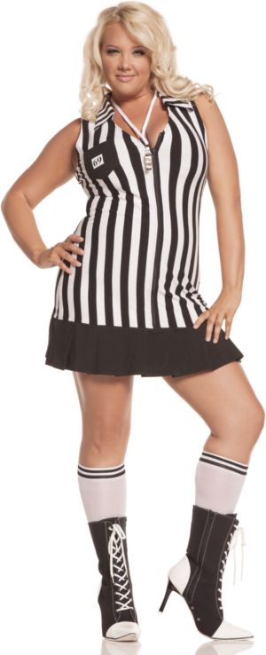 Racy Referee Adult Plus Costume