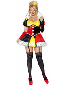 Whimsical Queen of Hearts Adult Plus Costume by Smiffy's USA