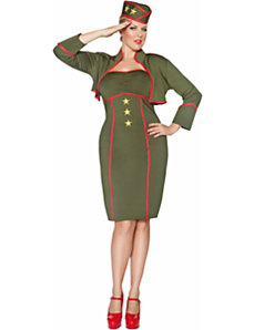 Army Girl Adult Plus Costume by Smiffy's USA
