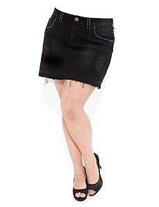 Denim Lurex Mini by City Chic