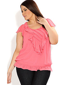 Cascade Frill Top by City Chic