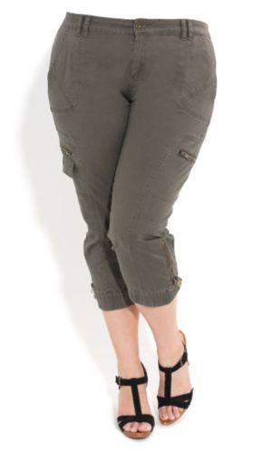 Washed Cropped Cargo Pants