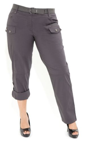 Webbing Cargo Pants With Belt