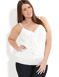 Beaded Frill Top by City Chic
