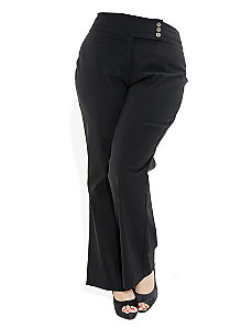 Twill Bengaline Pants by City Chic