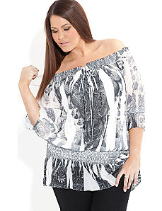 Crushed Mosaic Top by City Chic