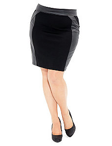 Vinyl Insert Skirt by City Chic
