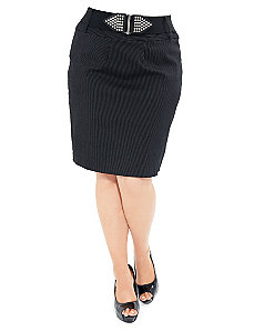 Pinstripe Skirt by City Chic