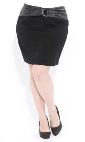 Ponte Skirt W Belt