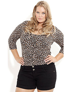 Leopard Print Cardigan by City Chic