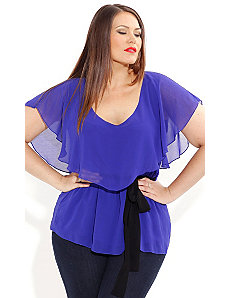 Chiffon Overlay Top by City Chic