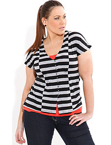 Stripe Block Top by City Chic