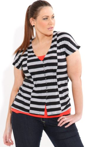 Stripe Block Top