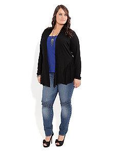 Drapey Panel Cardigan by City Chic