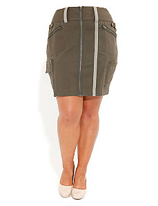 Utility Pencil Skirt by City Chic