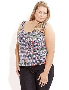 Picnic Cherries Top by City Chic