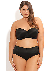 Adore Contour Strapless Bra Black by City Chic