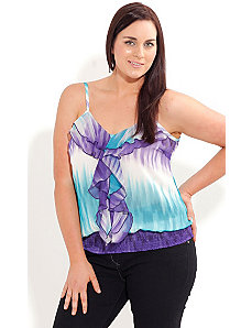 Printed Dip Dye Top by City Chic