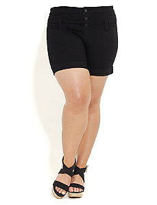 Hi Waisted Short Shorts by City Chic