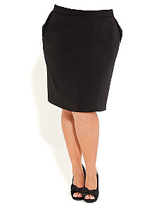Fold Pocket Pencil Skirt by City Chic