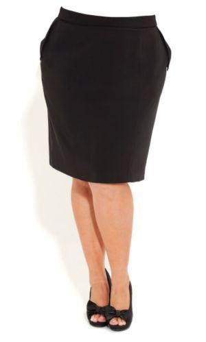Fold Pocket Pencil Skirt