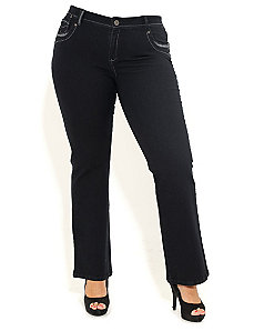 Black Beauty Bootleg Jeans by City Chic