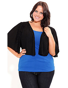 Pleat Kimono Cardigan by City Chic