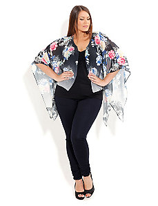 Garden Floral Kimono Top by City Chic
