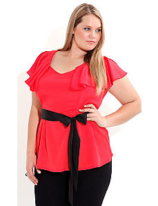 Flamingo Flutter Top by City Chic