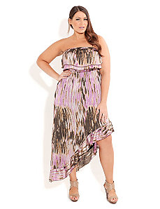 Purple Haze Hi Lo Maxi by City Chic