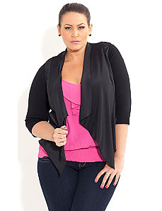 Drapey Pocket Jacket by City Chic