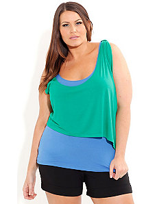Layered Splash Color Top by City Chic