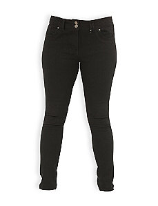 Black Cat Skinny Jeans by City Chic