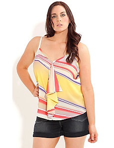 Chiffon Wavestripe Top by City Chic