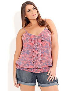 Coral Haze Top by City Chic