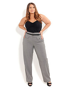 Girl Talk High Waist Pants by City Chic