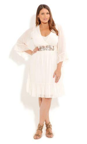Embellished Kimono Dress