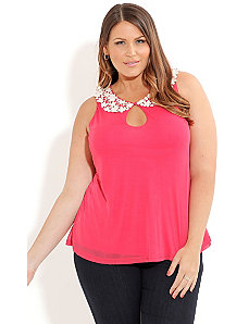 Strawberries & Cream Top by City Chic